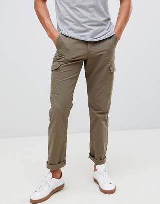 Farah Pine cargo trousers in green-Blue