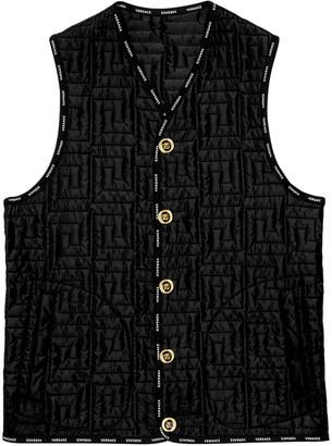 Versace Greca Print Vest Black