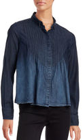 Current Elliott Lucy Pintuck Denim Shirt