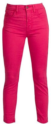 JEN7 by 7 For All Mankind Sateen Cropped Skinny Jeans