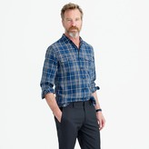 J.Crew Midweight flannel shirt in blue plaid