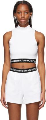 alexanderwang.t White Logo Mock Neck Tank Top