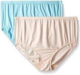 Ellen Tracy Women's 2 Pack Microfiber Full Brief Panty