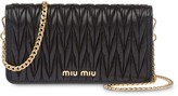 Miu Miu Matelasse leather mini bag