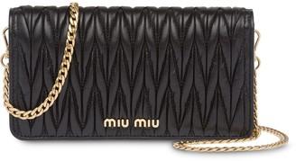 Miu Miu Matelassé leather mini bag