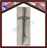 SHYNE_ENTERPRISES Highland Scottish Kilt Pins In Chrome Finish/Brooch Sword Kilt Pin New