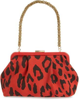 Clare Vivier Sissy Leopard Print Leather Bag
