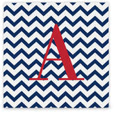 Cathy's Concepts Cathys Concepts Chevron Initial Wrapped Canvas