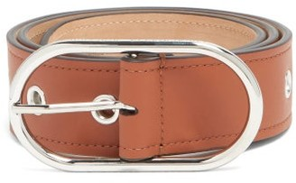 Acne Studios Masculine Large Logo-buckle Leather Belt - Brown