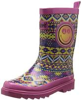 BeOnly Be Only Girls' Smiley Cool Mid-Calf Rain Boots pink Size: