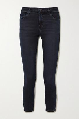 J Brand 835 Cropped Mid-rise Skinny Jeans - Dark denim