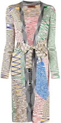 Missoni Marl-Knit Tie-Waist Cardi-Coat