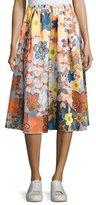 Acne Studios Sabina Satin A-Line Skirt, Multi