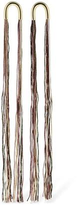 Missoni Long Fringed Earrings W/ Lurex Details