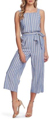 CeCe Double Stripe Sleeveless Crop Jumpsuit