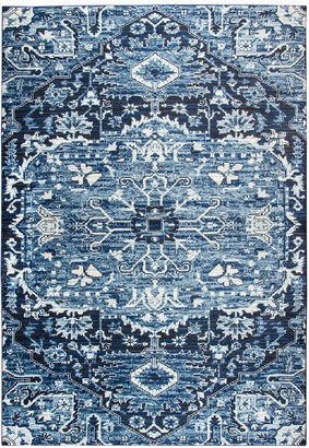 Panache Rizzy Home Transitional Central Medallion I Geometric Rug