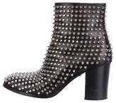 Christian Louboutin Leather Spike Ankle Boots