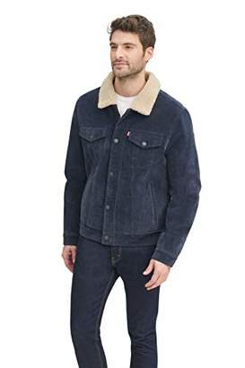 Levi's Men's Faux Leather Sherpa Lined Trucker Jacket (Regular and Big and Tall Sizes)