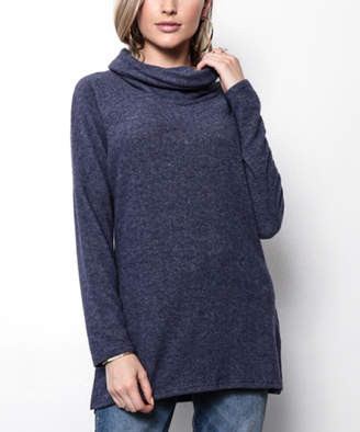 Milly Penzance Women's Pullover Sweaters navy - Navy Cowl Neck Tunic - Women & Plus