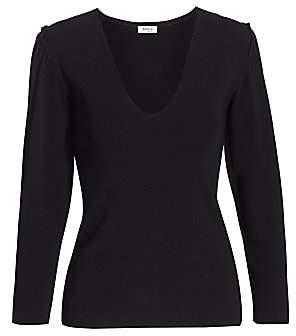 Akris Punto Women's Mini Ruffle Puff-Sleeve Knit Sweater