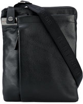 Borbonese zipped messenger bag - men - Leather/Polyester - One Size
