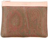 Etro paisley print clutch - women - Calf Leather - One Size
