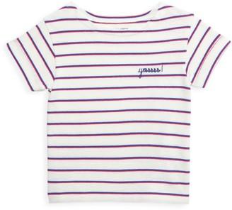 Maison Labiche Little Kid's & Kid's Sailor Striped YES T-Shirt