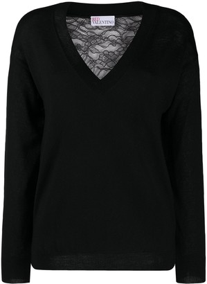 RED Valentino Floral Lace Jumper