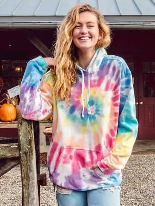 Ivory Ella Rainbow Tie Dye Oversized Hoodie