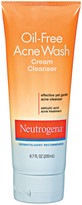 Neutrogena Oil Free Acne Wash Cream Cleanser
