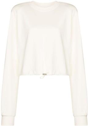 Frankie Shop Drawstring-Hem Cotton Sweatshirt