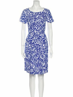 Oscar de la Renta 2016 Knee-Length Dress White