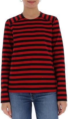 Ganni Striped Long Sleeve Top