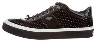 Jimmy Choo Dotted Swiss Velvet Sneakers