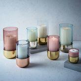 Metallic + Pastel Glass Candleholders + Vases