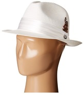 Stacy Adams Toyo Fedora with Snap Brim and 3 Pleat Silk Band Fedora Hats