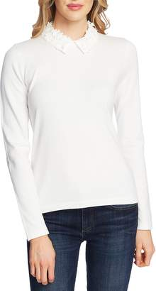 CeCe Embellished Collar Sweater