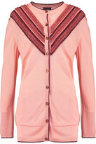 Just Cavalli Fil Coupé-Trimmed Stretch-Knit Cardigan