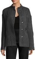 Narciso Rodriguez Wool Jacquard Paneled Jacket