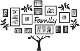 """WallVerbsTM 19-Piece """"Family"""" Tree Set in Black"""