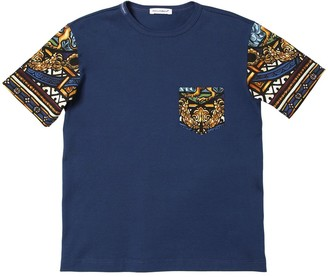 Dolce & Gabbana Cotton Jersey T-shirt W/ Print Sleeves