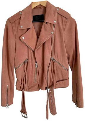 AllSaints Pink Suede Jacket for Women