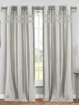 Kensie Kaia Faux Silk Grommet Window Panels (Set of 2)
