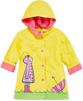 Pink Platinum Wippette Girls Dot Raincoat-Toddler