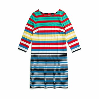 Tommy Hilfiger Women's Striped Dress with Magnetic Closure at Back