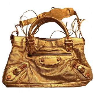 Balenciaga First Metallic Leather Handbags