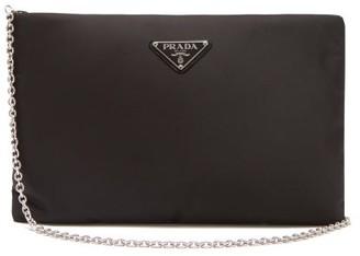 Prada Padded Nylon Clutch Bag - Black