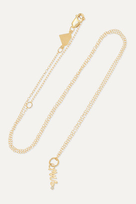 Alison Lou Mini Mrs. 14-karat Gold Diamond Necklace - one size