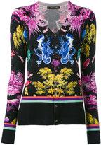 Roberto Cavalli botanical print cardigan - women - Silk/Cashmere/Wool - 42