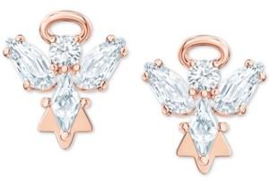 Swarovski Rose Gold-Tone Crystal Angel Stud Earrings